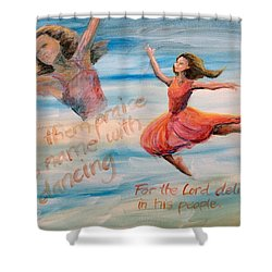 Shower Curtain featuring the painting Praise His Name by Lisa DuBois