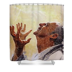 Praise. I Will Praise Him  Shower Curtain