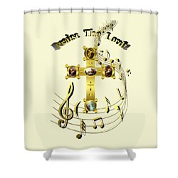 Shower Curtain featuring the digital art Praise The Lord by Robert G Kernodle
