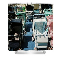 Pram Lot Shower Curtain