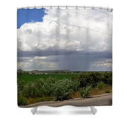 Prarie Rain Cloud Shower Curtain
