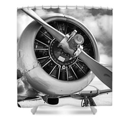 Pratt And Whitney R1340 Wasp Radial Engine Shower Curtain