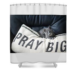 Shower Curtain featuring the photograph Pray Big by Linda Mishler
