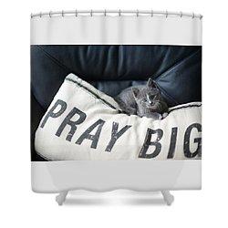 Pray Big Shower Curtain