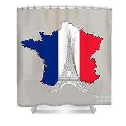 Pray For Paris Shower Curtain