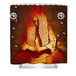 Pray For The Earth Shower Curtain by Pepita Selles