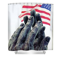 Pray For The Usa Shower Curtain