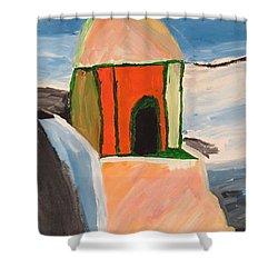 Prayer Hut Shower Curtain