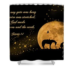 Prayer Of A Cowboy Shower Curtain by Bonnie Barry
