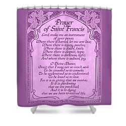 Prayer Of Saint Francis - Pope Francis Prayer -orchid Art Nouveau  Shower Curtain