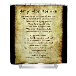 Prayer Of St Francis - Antique Parchment Shower Curtain