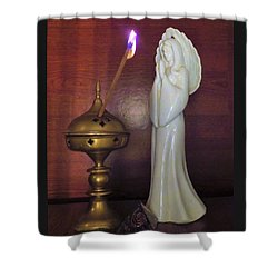 Shower Curtain featuring the photograph Prayer Petition by Denise Fulmer