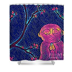 Praying Buddha Shower Curtain