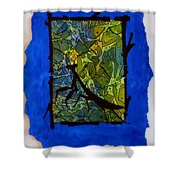 Praying Mantis Silhouette Shower Curtain