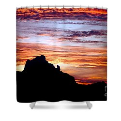 Praying Monk, Camelback Mountain, Phoenix Arizona Shower Curtain