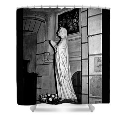 Shower Curtain featuring the photograph Praying Nun 2 by Elf Evans