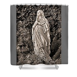 Shower Curtain featuring the photograph Praying Nun by Elf Evans