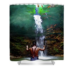 Shower Curtain featuring the photograph Praying To The Spirits by Al Bourassa