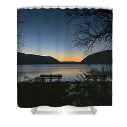 Dawn At Plum Point Shower Curtain by Angelo Marcialis