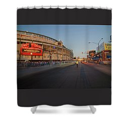 Pre-game Cubs Traffic Shower Curtain by Sven Brogren