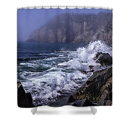 Pre Irene Surge Shower Curtain by Marty Saccone