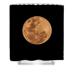 Post-penumbral Moon Shower Curtain by Venura Herath