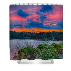 Pre-sunset At Hbsp Shower Curtain