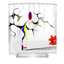 Precarious Study No.7 Shower Curtain
