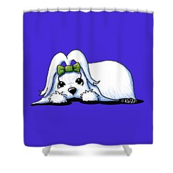Precious Maltese Shower Curtain