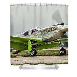Precious Metal Final Flight Shower Curtain by Alan Toepfer