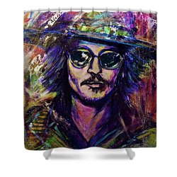 Precious Metals, Johnny Depp Shower Curtain