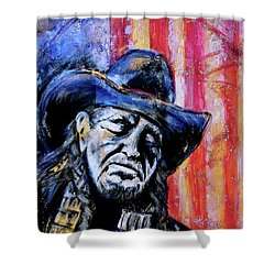 Precious Metals, Willie Americana Shower Curtain