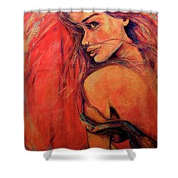 Precious Metals Xi Shower Curtain