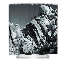 Precious Moment - Juxtaposed Rocks Joshua Tree National Park Shower Curtain