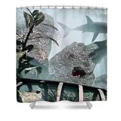 Predator Shower Curtain by Richard Rizzo