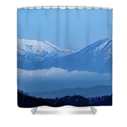 Shower Curtain featuring the photograph Predawn Peaks by Rikk Flohr