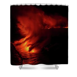 Shower Curtain featuring the photograph Predawn Pouroff by Allen Biedrzycki