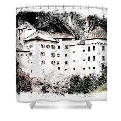 Predjama Castle Shower Curtain
