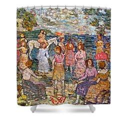 Prendergast: Beach, 1916 Shower Curtain by Granger