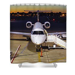 Preparing For Departure Shower Curtain by Jason Politte