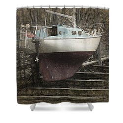 Preparing To Sail Shower Curtain