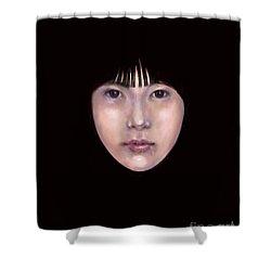 Prescient Moon, Heart Aflame Shower Curtain