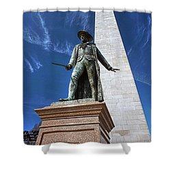Prescott Statue On Bunker Hill Shower Curtain