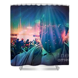 Shower Curtain featuring the photograph Presence by Fania Simon