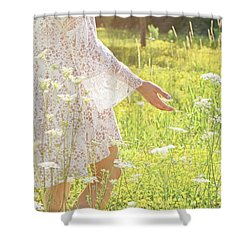Present Moment.. Shower Curtain