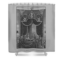 President Abraham Lincoln Lying In State Shower Curtain by War Is Hell Store