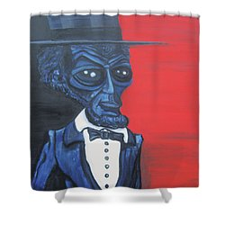 President Alienham Lincoln Shower Curtain
