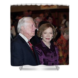 President And Mrs. Jimmy Carter Nobel Celebration Shower Curtain
