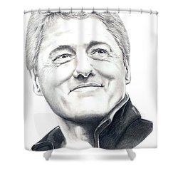 President Bill Clinton Shower Curtain by Murphy Elliott