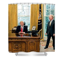 President Donald Trump Shower Curtain by Charles Shoup